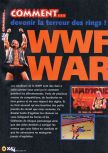 Scan of the walkthrough of WWF War Zone published in the magazine X64 HS03, page 1