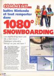 Scan of the walkthrough of 1080 Snowboarding published in the magazine X64 HS03, page 1