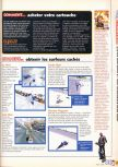 Scan of the walkthrough of 1080 Snowboarding published in the magazine X64 HS03, page 2