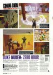 Scan of the preview of Duke Nukem Zero Hour published in the magazine Arcade 05