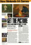Scan of the review of Pokemon Snap published in the magazine Arcade 09