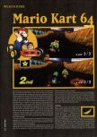 Scan of the walkthrough of Mario Kart 64 published in the magazine Hyper 47