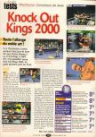Scan of the review of Knockout Kings 2000 published in the magazine Player One 102