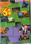 Scan of the review of Donkey Kong 64 published in the magazine Le Magazine Officiel Nintendo 21