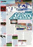 Scan of the preview of NHL Breakaway 98 published in the magazine Man!ac 47, page 1