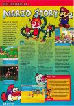 Scan of the review of Paper Mario published in the magazine Consoles + 105, page 1