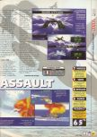 Scan of the review of Aero Fighters Assault published in the magazine X64 06