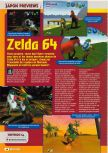 Scan of the preview of The Legend Of Zelda: Ocarina Of Time published in the magazine Consoles + 069