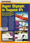 Scan of the preview of Nagano Winter Olympics 98 published in the magazine Consoles + 069