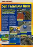 Scan of the preview of San Francisco Rush published in the magazine Consoles + 069