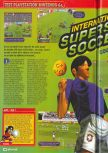 Scan of the review of International Superstar Soccer 64 published in the magazine Consoles + 080, page 1