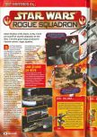 Scan of the review of Star Wars: Rogue Squadron published in the magazine Consoles + 085