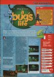Scan of the review of A Bug's Life published in the magazine Consoles + 096