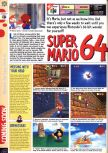 Scan of the preview of Super Mario 64 published in the magazine Computer and Video Games 175