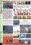 Scan of the preview of Turok: Dinosaur Hunter published in the magazine Computer and Video Games 183
