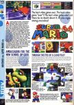 Scan of the review of Super Mario 64 published in the magazine Computer and Video Games 184