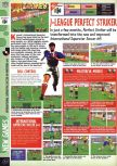 Scan of the preview of Jikkyou J-League Perfect Striker published in the magazine Computer and Video Games 184