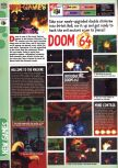 Scan of the preview of Doom 64 published in the magazine Computer and Video Games 185