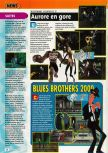 Scan of the preview of Blues Brothers 2000 published in the magazine Consoles + 098
