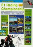 Scan of the preview of F1 Racing Championship published in the magazine Consoles + 098