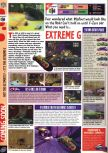 Scan of the preview of Extreme-G published in the magazine Computer and Video Games 192