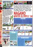 Scan of the preview of Nagano Winter Olympics 98 published in the magazine Computer and Video Games 193