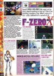 Scan of the preview of F-Zero X published in the magazine Computer and Video Games 195, page 1