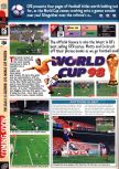 Scan of the preview of World Cup 98 published in the magazine Computer and Video Games 198