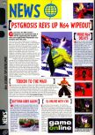 Scan of the preview of WipeOut 64 published in the magazine Computer and Video Games 199