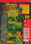 Scan of the review of Tarzan published in the magazine Consoles + 099