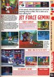 Scan of the preview of Jet Force Gemini published in the magazine Computer and Video Games 201