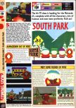 Scan of the preview of South Park published in the magazine Computer and Video Games 207