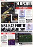 Scan of the preview of Premier Manager 64 published in the magazine Computer and Video Games 212