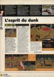 Scan of the preview of NBA Live 99 published in the magazine X64 09