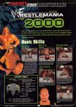 Scan of the walkthrough of WWF Wrestlemania 2000 published in the magazine GamePro 135, page 1