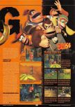 Scan of the preview of Donkey Kong 64 published in the magazine GamePro 135