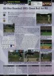 Scan of the review of All-Star Baseball 2001 published in the magazine GamePro 140, page 1
