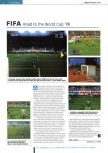 Scan of the review of FIFA 98: Road to the World Cup published in the magazine Edge 54, page 1