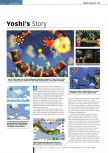 Scan of the review of Yoshi's Story published in the magazine Edge 55, page 1