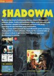 Scan of the preview of Shadow Man published in the magazine Total 64 19