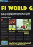 Scan of the preview of F-1 World Grand Prix published in the magazine Total 64 19