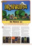 Scan of the review of Dr. Mario 64 published in the magazine Nintendo Gamer 1, page 1