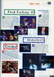 Scan of the preview of Final Fantasy 64 published in the magazine CD Consoles 13
