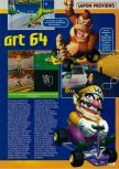 Scan of the preview of Mario Kart 64 published in the magazine Consoles + 062