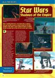 Scan of the preview of Star Wars: Shadows Of The Empire published in the magazine Consoles + 062