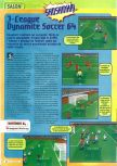 Scan of the preview of J-League Dynamite Soccer 64 published in the magazine Consoles + 061, page 1