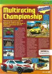 Scan of the preview of Multi Racing Championship published in the magazine Consoles + 061