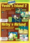 Scan of the preview of Kirby's Air Ride published in the magazine Consoles + 061, page 1