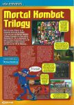 Scan of the preview of Mortal Kombat Trilogy published in the magazine Consoles + 061