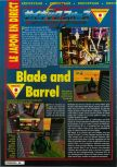 Scan of the preview of Blade & Barrel published in the magazine Consoles + 056, page 1